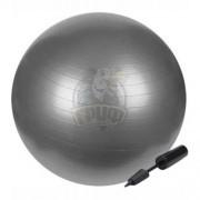 Мяч гимнастический (фитбол) с насосом Fora 65 см (серый)