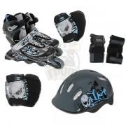 Роликовые коньки раздвижные с комплектом защиты Action