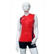 Форма волейбольная женская Asics Set Fly Lady (красный/синий)
