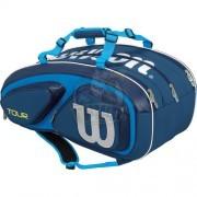 Чехол-сумка Wilson Tour V на 15 ракеток (синий)
