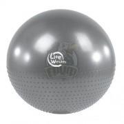 Мяч гимнастический массажный (фитбол) Lite Weights 65 см с системой антивзрыв + насос