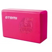 Блок для йоги Atemi (розовый)