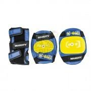 Набор защиты роллера Maxcity Little Rabit Blue (наколенники, налокотники, защита кисти)