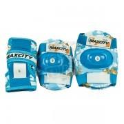 Набор защиты роллера Maxcity Teddy Light Blue (наколенники, налокотники, защита кисти)