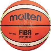 Мяч баскетбольный игровой Molten BGM6X-YG FIBA Indoor/Outdoor №6