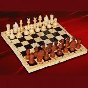 Шахматы деревянные парафинированные (без подклейки)