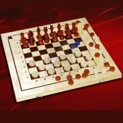 Шахматы, шашки, нарды (набор игр 3 в 1)