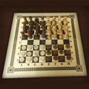 Шахматы, шашки (набор игр 2 в 1)