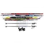 Комплект беговых подростковых лыж STC Galaxy (лыжи+палки алюминиевые+крепление NN75 мм)