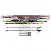 Комплект беговых лыж STC Galaxy (лыжи+палки алюминиевые+крепление SNS)