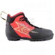 Ботинки лыжные Trek Арена NNN (черный/красный)