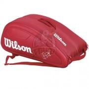 Чехол-сумка Wilson Federer DNA на 12 ракеток (красный)