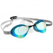 Очки для плавания стартовые Mad Wave Turbo Racer II Rainbow (бирюзовый)
