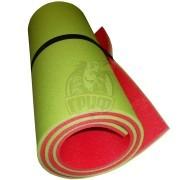 Коврик двухслойный Экофлекс 15 мм (салатовый/красный)