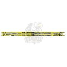 Лыжи беговые Fischer Sprint Crown Yellow NIS Junior с насечкой