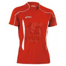 Форма волейбольная мужская Asics T-Shirt Volo (красный/черный)