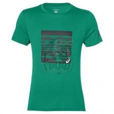Футболка спортивная мужская Asics Graphic Ss Top (зеленый)