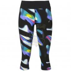 Тайтсы спортивные женские Asics Fuzex Knee 3/4 Tight (черный/синий)