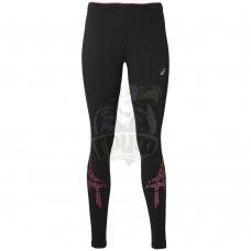 Тайтсы спортивные женские Asics  Stripe Tight (черный/розовый)