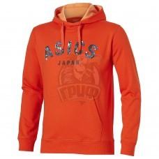 Толстовка спортивная мужская Asics Camou Logo Hoodie (оранжевый)