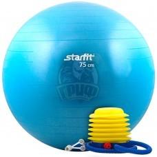 Мяч гимнастический (фитбол) Starfit 75 см с системой антивзрыв + насос