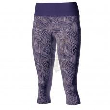 Тайтсы спортивные женские Asics Fuzex Knee 3/4 Tight (серо-розовый)