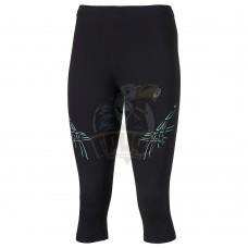 Тайтсы спортивные женские Asics Stripe Knee 3/4 Tight (черный/бирюзовый)