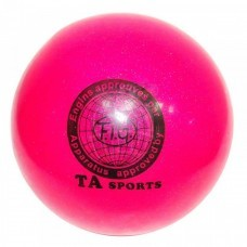 Мяч для художественной гимнастики с блестками 180 мм (цвет в ассортименте)