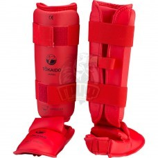 Защита голени и стопы Tokaido WKF (красный)