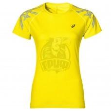 Футболка спортивная женская Asics Stripe Ss Top (желтый)