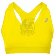 Топ спортивный женский Asics Race Bra (желтый)