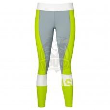 Тайтсы спортивные женские Asics Color Block 7/8 Tight (желтый/серый)