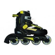 Роликовые коньки раздвижные Vimpex Sport (черно-желтый)