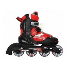 Роликовые коньки раздвижные Vimpex Sport (красный)