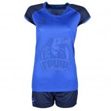 Форма волейбольная женская Asics Woman Volleyball Cap Sleeve Set (синий)