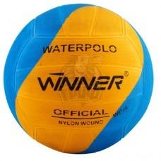 Мяч для водного поло тренировочный Winner Swirl №5 (голубой/оранжеый)