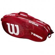 Чехол-сумка Wilson Team III на 6 ракеток (красный/белый)