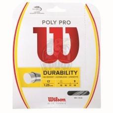 Струна теннисная Wilson Poly Pro 1.25/12.2 м (серебристый)