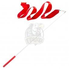 Лента гимнастическая Amely 6 м (красный)