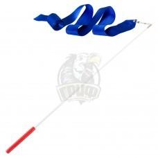 Лента гимнастическая Amely 6 м (синий)