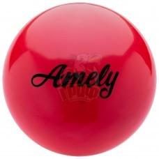 Мяч для художественной гимнастики Amely 190 мм (красный)