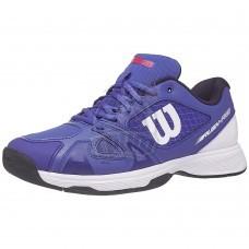 Кроссовки теннисные детские Wilson Rush Pro 2.5 JR (синий/белый)