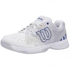 Кроссовки теннисные детские Wilson Stroke JR (белый/синий)