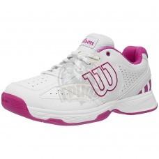Кроссовки теннисные детские Wilson Stroke JR (белый/фиолетовый)