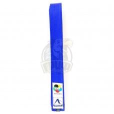 Пояс каратэ для кумите Arawaza Blue WKF 100% хлопок (синий)