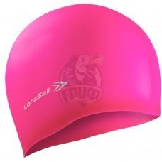 Шапочка для плавания Longsail (розовый)