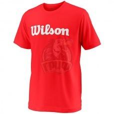 Майка спортивная для мальчиков Wilson Team Script Tech Tee Youth (красный)