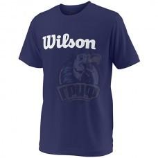 Майка спортивная для мальчиков Wilson Team Script Tech Tee Youth (синий)