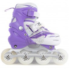 Роликовые коньки раздвижные Fora (фиолетовый/белый)