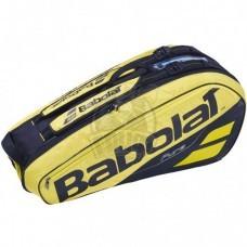 Чехол-сумка Babolat Pure Aero на 6 ракеток (желтый/черный)